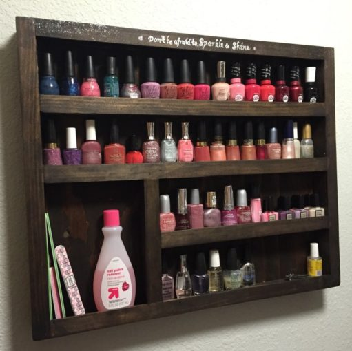 DIY Nail Rack Nail Organization Hack