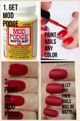 Matte Finish Nail Hack