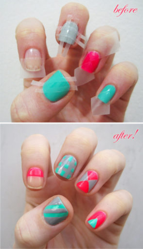 Striped Nail Nail Hack