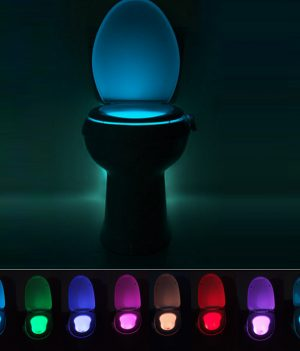 8 Color Motion Sensing Toilet Light