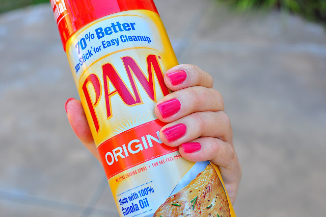 Pam Cooking Spray Nail Hack